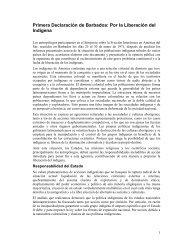 Primera Declaración de Barbados: Por la Liberación del ... - Servindi