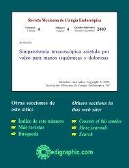 Simpatotomía toracoscópica asistida por video ... - edigraphic.com