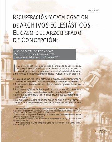 DE ARCHIVOS ECLESIÁSTICOS. - SciELO