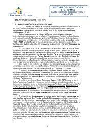 historia de la filosofía sto. tomás - Colegio San Buenaventura
