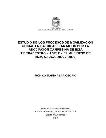 estudio de los procesos de movilización social en salud ...