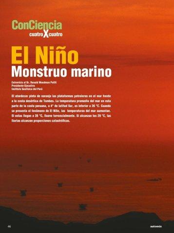 El Niño. Monstruo marino - Instituto Geofísico del Perú