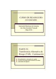 curso de reaseguro avanzado - Asociación Mexicana de Actuarios, AC