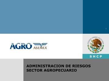 shcp administracion de riesgos sector agropecuario - SIAP