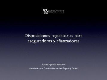 Disposiciones regulatorias para aseguradoras y afianzadoras