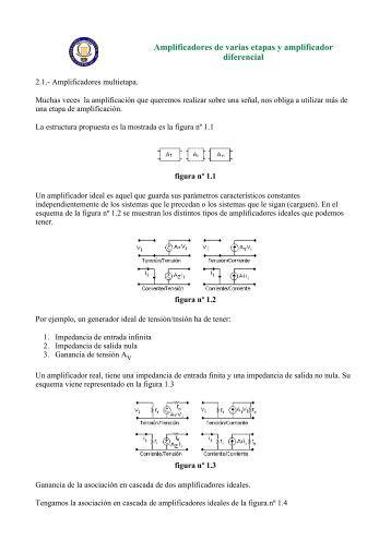 Amplificadores de varias etapas y amplificador ... - Student Info.net