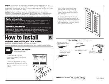 How to Install - Springs Window Fashions