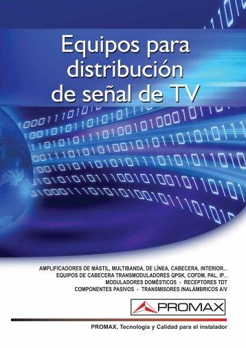 Equipos para distribucion de señal de TV - HIPERANTENA