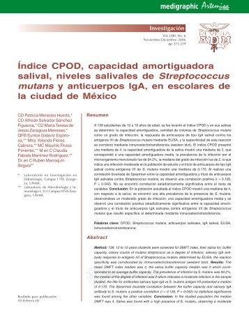 Índice CPOD, capacidad amortiguadora salival ... - edigraphic.com