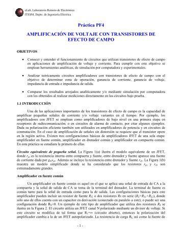 Práctica PF4 AMPLIFICACIÓN DE VOLTAJE CON ... - eLab MTY