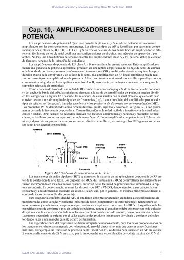 Cap. 10,- AMPLIFICADORES LINEALES DE POTENCIA - Profe Saul