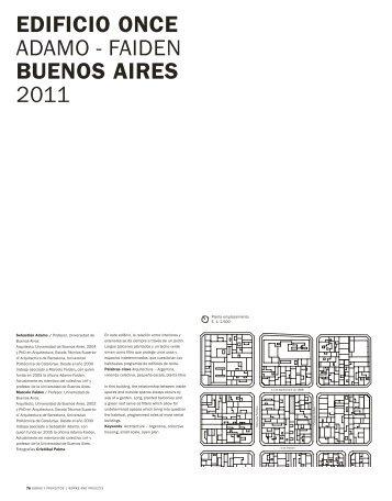 EdIFIcIO ONcE ADAMO - FAIDEN bUENOS AIRES 2011 - SciELO