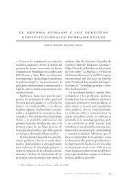 El genoma humano y los derechos constitucionales fundamentales