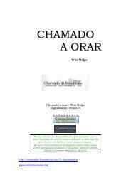 CHAMADO A ORAR - Convictos.xpg.com.br