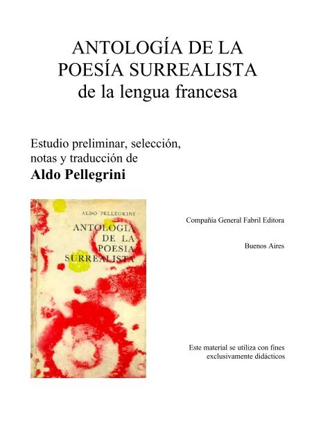 Prólogo A La Antología De La Poesía Surrealista Francesa