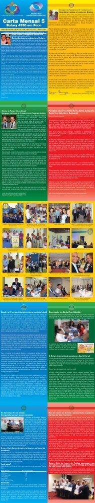 Carta Mensal 05 – Novembro de 2011 - Rotary International ...