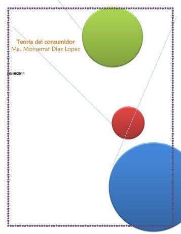 Teoria del consumidor Resumen - moncedy