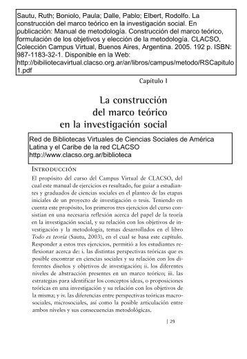 construcción del marco teórico - CLACSO