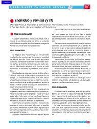Individuo y Familia (y II) - Revista Medicina General y de Familia