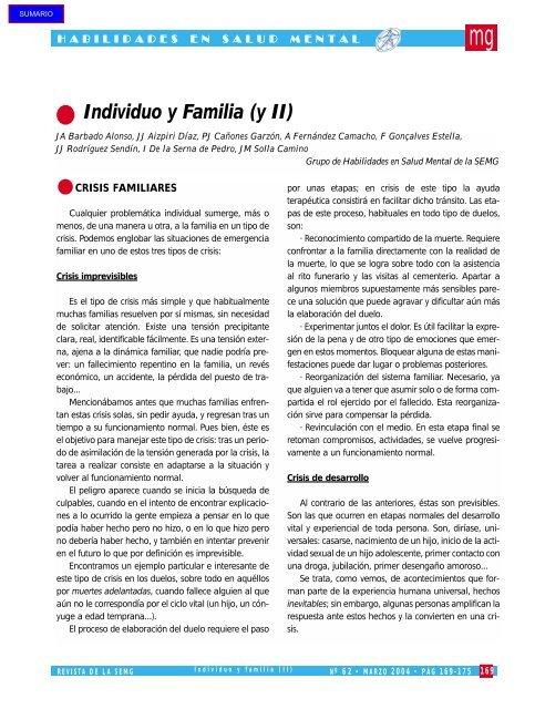 Individuo Y Familia Y Ii Revista Medicina General Y De