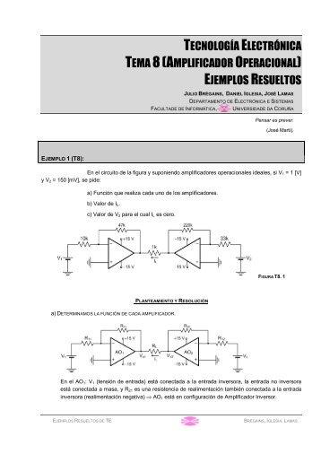 TECNOLOGÍA ELECTRÓNICA TEMA 8(AMPLIFICADOR ...