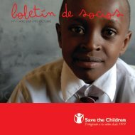 Boletín de Socios 1 - Save the Children