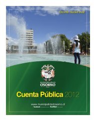 cuenta publica 2012 - Municipalidad de Osorno