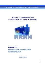 unidad 4: optimización de la gestión administrativa - Senati