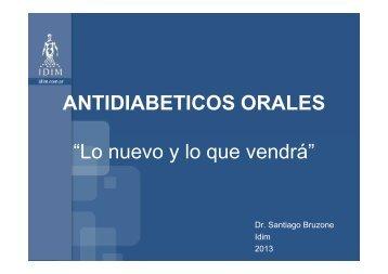 BRUZONE ANTIDIABETICOS ORALES - IDIM