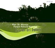 Plan de Manejo Parque Natural Regional Paramo del Duende ...