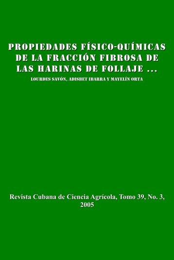 Propiedades físico-químicas de la fracción fibrosa de las harinas de ...