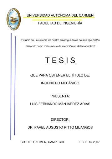 T E S I S - Universidad Autónoma del Carmen