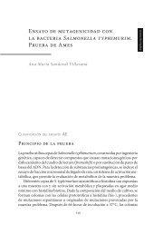 Ensayo de mutagenicidad con la bacteria Salmonella typhimurim ...