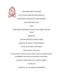 universidad de el salvador facultad multidisciplinaria oriental ...
