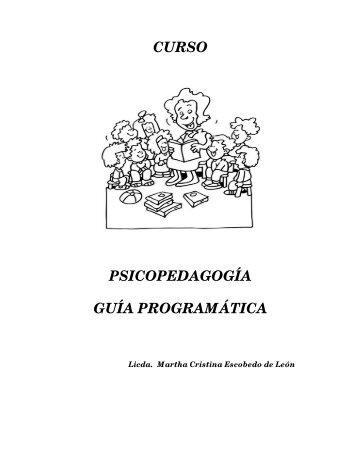 CURSO PSICOPEDAGOGÍA GUÍA PROGRAMÁTICA