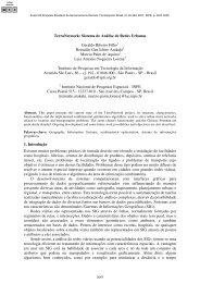 sistema de análise de redes urbanas Ribeiro Filho, G ... - Inpe
