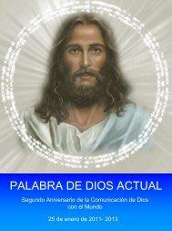 PALABRA DE DIOS ACTUAL - Regreso