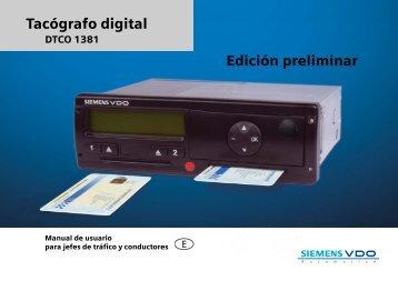 Manual Usuario Siemens VDO - Forgatrans