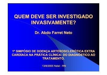 QUEM DEVE SER INVESTIGADO INVASIVAMENTE? - Angio.com.br
