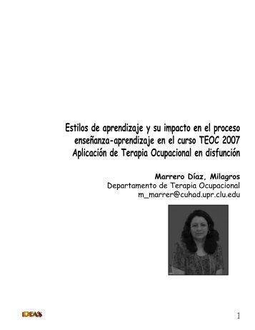 Estilos de aprendizaje y su impacto en el proceso enseñanza ...