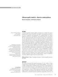 Ultrassonografia mamária – Aspectos contemporâneos