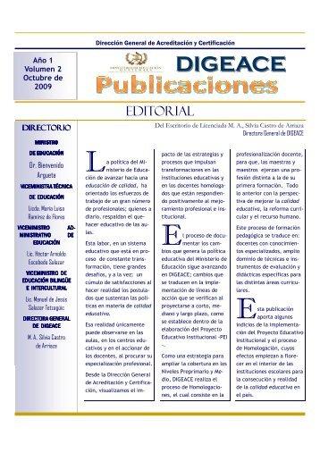 Octubre 2009 - Ministerio de Educación - Guatemala