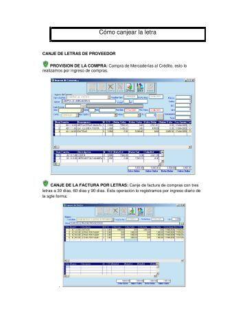 Cómo canjear la letra - VisualCont