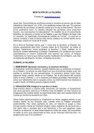 MEDITACIN DE LA PALABRA