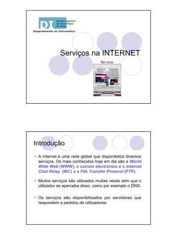 Serviços na INTERNET