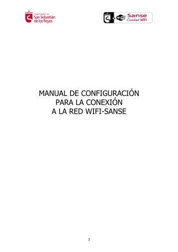 Manual de conexión Wifi Sanse - Ayuntamiento de San Sebastián ...