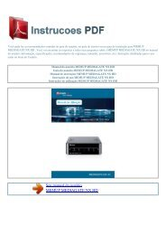 Manual do usuário MEMUP MEDIAGATE NX HD - INSTRUCOES PDF