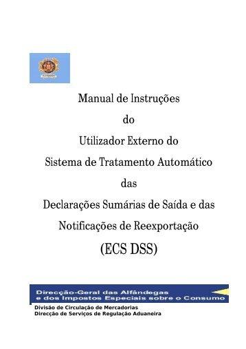 Manual de Instruções do Utilizador Externo do Sistema de ...