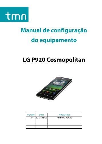Manual de configuração do equipamento LG P920 ... - Tmn
