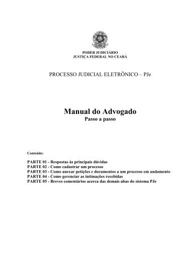 Manual do Advogado - JFPB